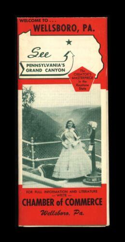 Vintage Wellsboro Pennsylvania Grand Canyon Travel Brochure Map