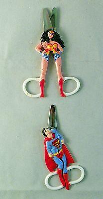 Vintage Set of Wonder Woman and Superman Scissors 1978