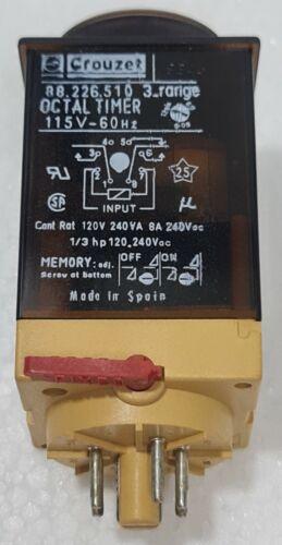 CROUZET 88.226.510 OCTAL TIMER 115V-60 Hz