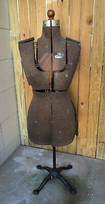 Antique Acme Dress Form Size A Adjustable Victorian Cast Iron Base