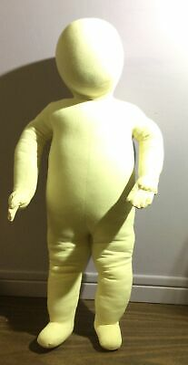 Vtg Antique Authentic 3-6 Month Full Body 24 Posable Childs Canvas Mannequin