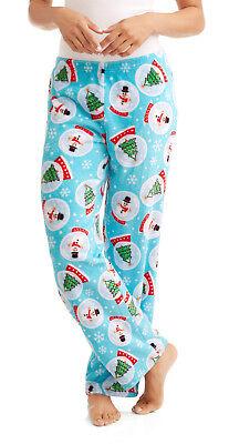Womens Christmas SNOW GLOBES Fleece Lounge Pants Adult S-2X Pajama Sleep Bottoms