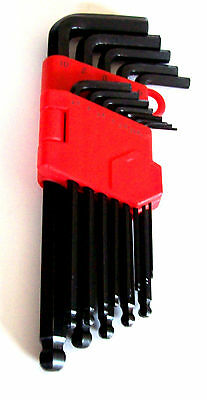 13pc GOLIATH INDUSTRIAL METRIC ALLEN BALL POINT END LONG ARM HEX KEY WRENCH SET