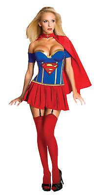 Supergirl Sexy Luxus Erwachsene Damen Kostüm Heldin Superheld Rubies Dc (Damen Sexy Supergirl Kostüme)