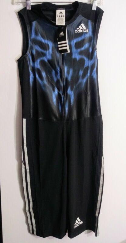 NEW Adidas Performance AZP SL Track Speed Suit Black & Blue Men's Size Medium M