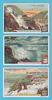 LIEBIG - SET OF 6 CARDS -  S 583  /  F 584  -  WATERFALLS  -  1899