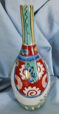 Japanese Arita Ko Kutani Edo Period Vase 7.125