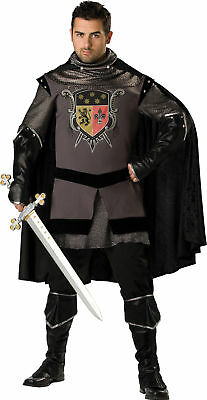 Dark Knight Adult Plus Size Mens Costume Medieval Tunic Renaissance Halloween - Plus Size Renaissance Halloween Costumes