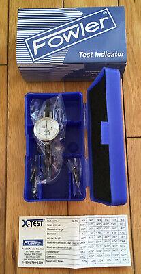 Fowler Xtest Double Range Dial Test Indicator Mini Face 0.0600.0005 52-562-002