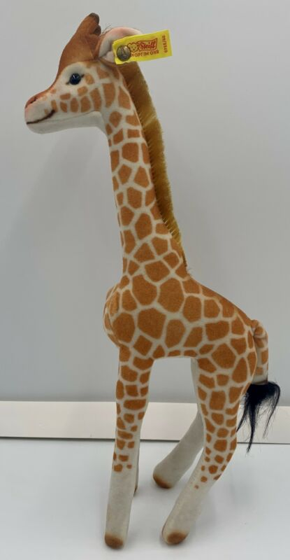 "Vintage Steiff 0755/40 Giraffe 15"" Tall Plush Germany Excellent Rare 1970"
