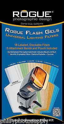 Rogue Gel Filter Kit-> Color Correction + Universal Set Bundle-> Worldwide Ship Gel Filter Kit
