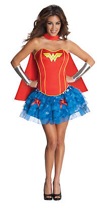 DC Comics Wonder Woman Flirty Adult Womens Costume Heroine Theme Party Halloween
