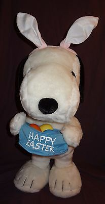 "Peanuts Snoopy Dog Easter Jumbo Stuffed Animal Plush 24"" Porch Yard Cartoon"