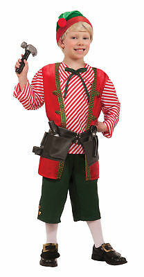 Christmas Toy Maker Elf Costume Santa's Helper Outfit Boys Girls Child Tools