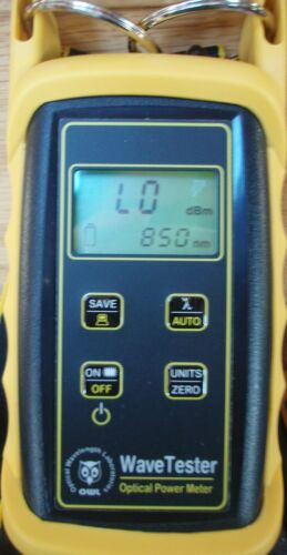 OWL WaveTester Optical Power Meter WTUFX with case