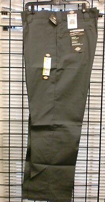 Dickies Men's Slim Straight Fit Poplin Work Pant  WP805- CHARCOAL Poplin Work Pants