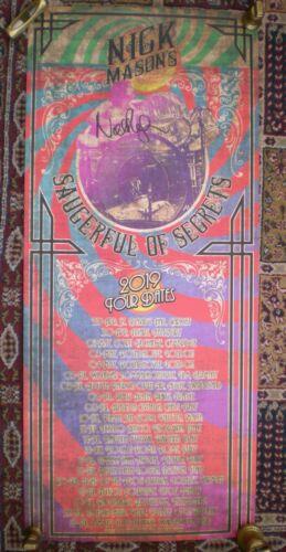 Nick Mason ~ Hand Signed 2019 Tour Poster ~ Saucerful of Secrets ~ Pink Floyd xx