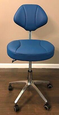Crystal Microfiber Leather Dental Doctors Stool Adjustable Dentist Mobile Chair