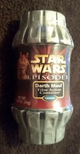 Star Wars Ep 1 1999 Action Candy Container Darth Maul Wonka Tiny Tarts SEALED