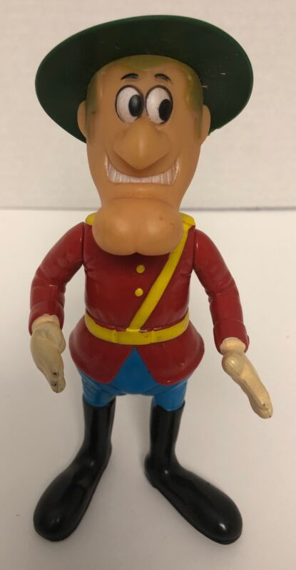 "1976 Dakin DUDLEY DO-RIGHT 7"" Figure Vintage Plastic Cartoon Toy"