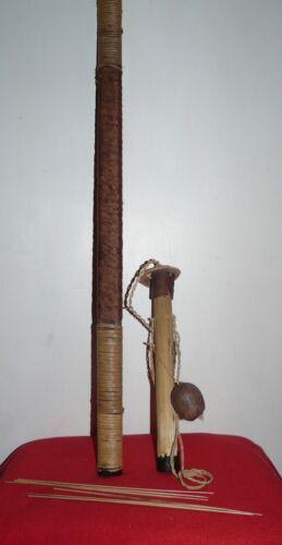 WAORANI (HUAORANI) ECUADOR AMAZON SMALL CERBETANA/ BLOWPIPE, DART CONTAINER