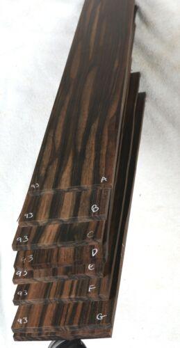 Wide Stripey Macassar ebony guitar fingerboard fretboard blank MF93