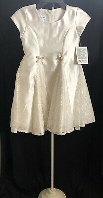 Bonnie Jean Girls New Special Occasion Dress, - Girls Ivory Dress