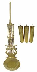 New Ornate Laser Cut Hermle & Kieninger Grandfather Clock Pendulum & Weight Set!