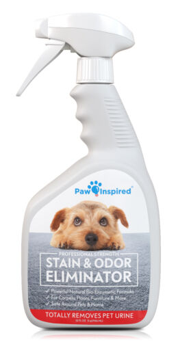 Paw Inspired Pet Urine Stain Odor Enzyme Cleaner Spray, Eliminator for Dog Cat