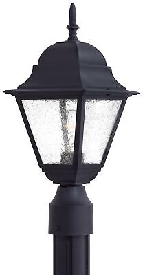 The Great Outdoors GO 9066 Black 1-Light Post Light From The Bay Hill Collection Great Outdoors Bay
