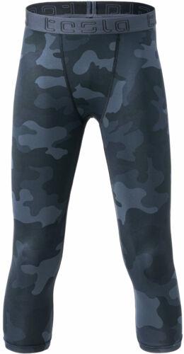 TSLA Boys UPF 50+ Compression Pants Baselayer, Cool Dry Active Running Tights