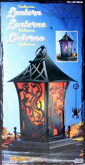 Halloween LED Candle Lantern Lights Witch Spider Orange Belmore Canterbury Area Preview
