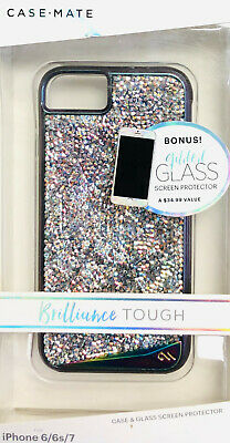 Case-Mate Brilliance Iridescent Crystals Case Cover iPhone 8 7 6s 6 Gilded Glass
