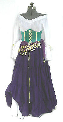ESMERALDA SKIRT COSTUME HUCHBACK OF NOTRE DAME COSPLAY RENAISSANCE GYPSY PIRATE