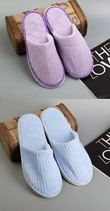Hotel/ Spa Slippers for Guests (Purple & Blue)