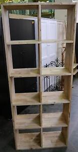 New Timber Hardwood Scandi Bookshelf Storage 10 Cube Bookcase Melbourne CBD Melbourne City Preview