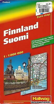 Map of Finland (Suomi),  by Hallwag, 2005, 1:1,000,000 - Indexed