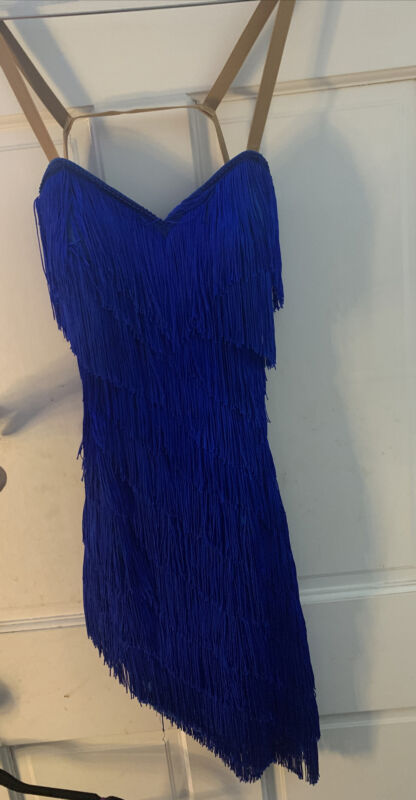 Charismatico Dancewear Blue Fringe Dress