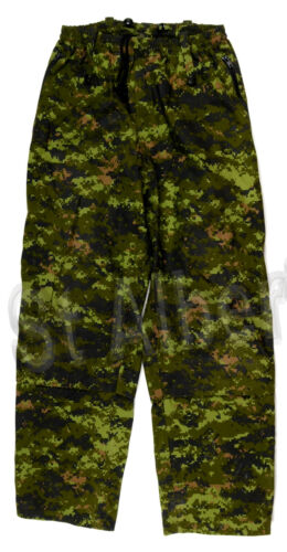 CANADIAN ARMY GORETEX RAIN PANTS - CADPAT - SIZE 7034 REGULAR MEDIUM - 543R169A