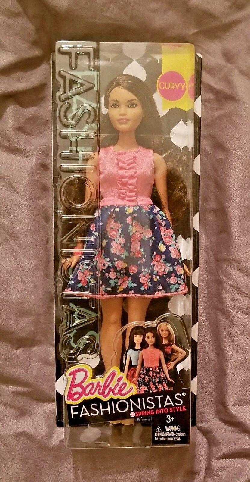 $12.99 - Barbie Fashionistas Doll 26, Spring Into Style, Curvy - New in Box (NIB)