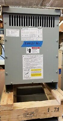Ge 15 Kva Transformer 480 Delta 208y120 Volt - 1 Year Guarantee - New