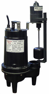 Champion Pump 12 Hp Submersible Sewage Pump Cpw5-12 V