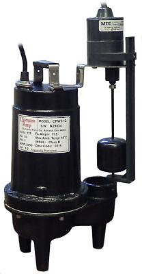 Champion Pump 12 Hp Submersible Sewage Pump Cpw5-12 V