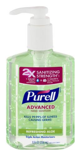 * Advanced Instant Hand Sanitizer Gel, Floral Scent, 8 oz Bo