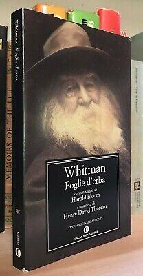 Walt Whitman Foglie d'erba Oscar Mondadori 2015 H. Bloom - Thoreau