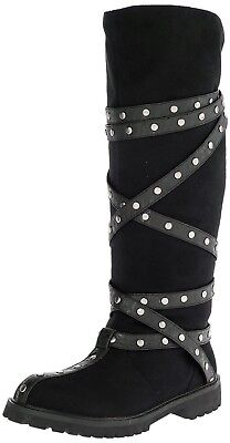 Robin Hoood Biker Pirate Gotham Superhero Cosplay Costume Boots BLACK Pull-On