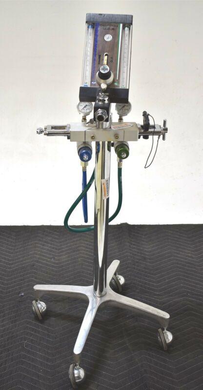 Quantiflex D/MDM Dental Nitrous N2O Flowmeter Conscious Sedation Unit w/ Cart