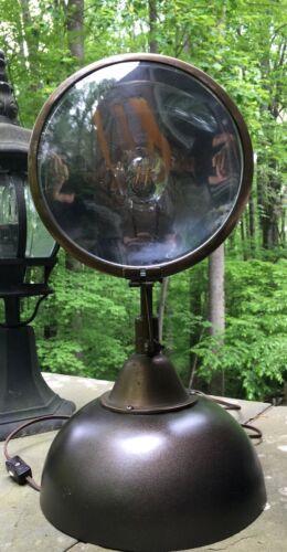 Vintage Boat Ship Marine Portable Light Co. Brass-Copper Spot Light Lamp