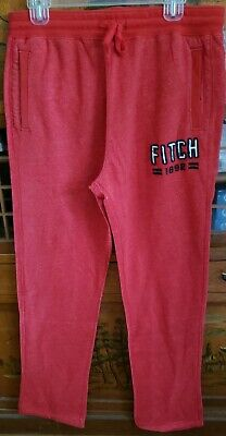 A0129 ABERCROMBIE & FITCH WOMENS RED CASUAL/DRESS COTTON BLEND PANTS SIZE M