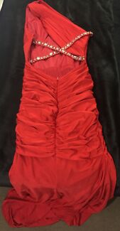 RED FORMAL DRESS (With Small Train) Mount Cotton Redland Area Preview